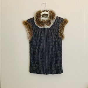 Like new vintage reversible vest